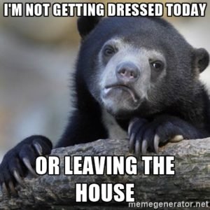 leaving the house